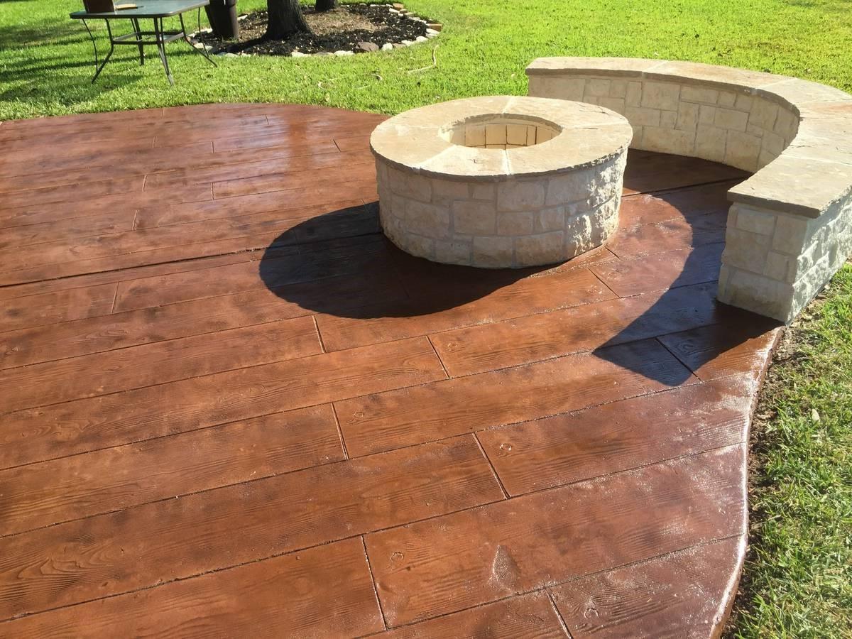 Concrete Patio | Colored Concrete